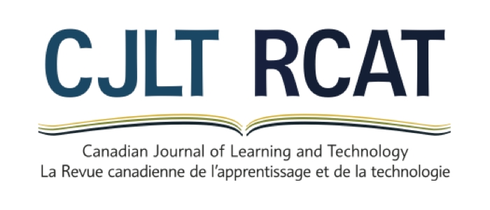 Canadian Journal of Learning and Technology / La revue canadienne de l'apprentissage et de la technologie 41:3 Published on EdITLib